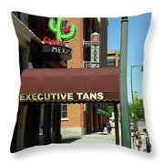 Denver Downtown Storefront Throw Pillow