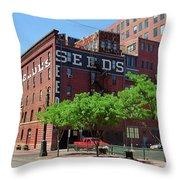 Denver Downtown Warehouse Throw Pillow