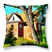 The Denver House Throw Pillow