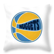 Denver Nuggets Retro Shirt Throw Pillow