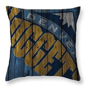 Denver Nuggets Wood Fence Throw Pillow