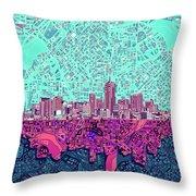 Denver Skyline Abstract 7 Throw Pillow