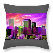 Denver Skyline Throw Pillow