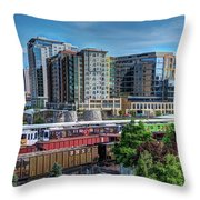 Denver Train Station Throw Pillow