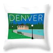Denver Washington Park Throw Pillow by Sam Brennan