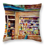 Depanneur St.viateur Throw Pillow