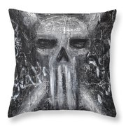 Departed Darkness Throw Pillow by Roseanne Jones