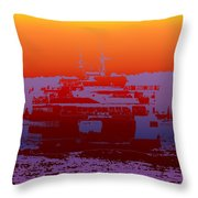Departing Ferry 2 Throw Pillow