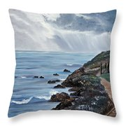 Departing Storm Throw Pillow