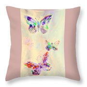 Departure In Purpose And Life As You Are By Lisa Kaiser Throw Pillow
