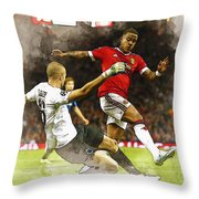 Depay In Action Throw Pillow