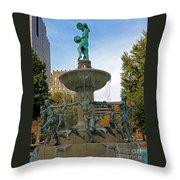 Depew Memorial Fountain Throw Pillow