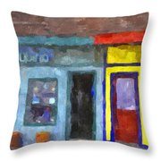 Depoe Bay Oregon - Chowder Bowl Throw Pillow