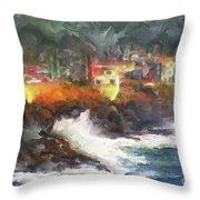 Depoe Bay Oregon Throw Pillow