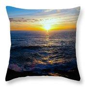 Depoe Bay Sunset Throw Pillow
