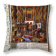 Deportation Of Jews Throw Pillow