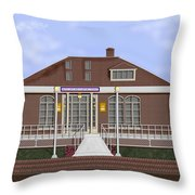 Depot Cafe And Club Car Lounge Throw Pillow
