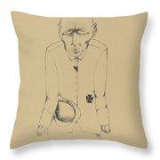 Der Erwerbslose (the Unemployed Man) Throw Pillow