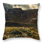 Der Hintere Murgsee. St. Galler Alpen. 1878 Throw Pillow