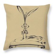 Der M?nn Mit Dem Holzbein Tr?umt (the Man With The Wooden Leg Dreams) Throw Pillow