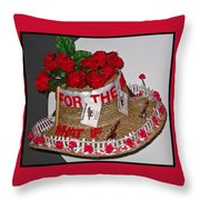 Derby Day Hat - 2 Throw Pillow