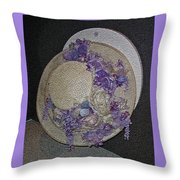 Derby Day Hat - 5 Throw Pillow