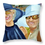 Derby Girls Throw Pillow