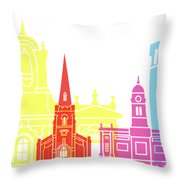 Derby Skyline Pop Throw Pillow