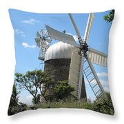 Derbyshire Windmill Throw Pillow