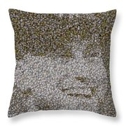 Derek Jeter Baseballs Mosaic Throw Pillow