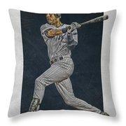 Derek Jeter New York Yankees Art 2 Throw Pillow