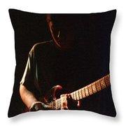 Derek Trucks Slide And Shadow Throw Pillow