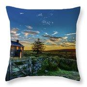 Derelict Cottage Nun's Cross, Dartmoor, Uk. Throw Pillow