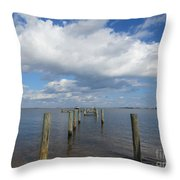 Derelict Dock Throw Pillow