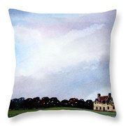 Derelict Farmhouse Near Malton Throw Pillow