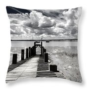 Derelict Wharf Throw Pillow