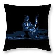 Derringer 77 #61 Enhanced In Blue Throw Pillow