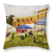 Derry Homegrown Market Throw Pillow