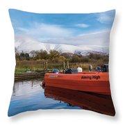 Derwent Water Harbor Throw Pillow