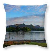 Derwentwater Spring Sunset Throw Pillow