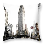 Desaturated New York Throw Pillow