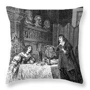 Descartes Teaching Queen Christina, 1649 Throw Pillow