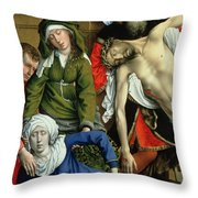 Descent From The Cross Throw Pillow