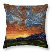 Descent On Mount Diablo Throw Pillow