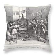 Descente Dans Les Ateliers De La Libert? De La Presse Throw Pillow