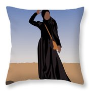 Peaceful Pondering Throw Pillow