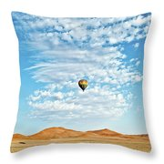 Desert Balloon Throw Pillow
