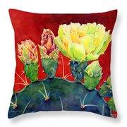 Desert Bloom 3 Throw Pillow