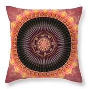 Desert Bloom Mandala Throw Pillow