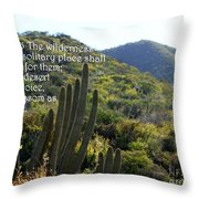 Desert Blossoms As The Rose Throw Pillow